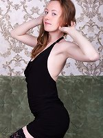 Emma Fantasy enjoys stripping off her black dress